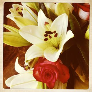 Wedding anniversary flowers!  :)