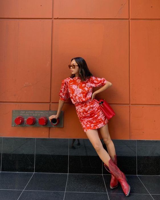 Cowboy Boots Are All You Need To Wear Summer Dresses In Fall
