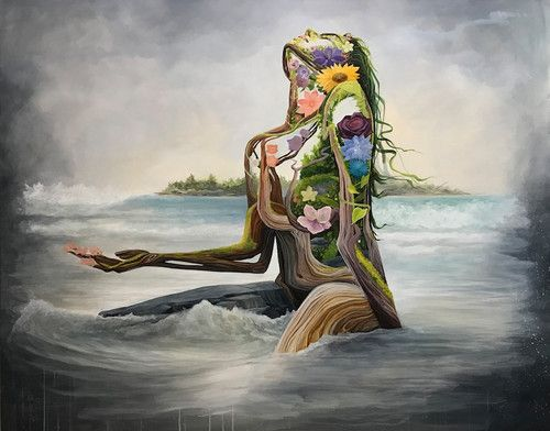 Bk The Artist Mother Earth Surreal Portrait Exhibit Nature Drawing Surreal Portrait Mother Earth Art
