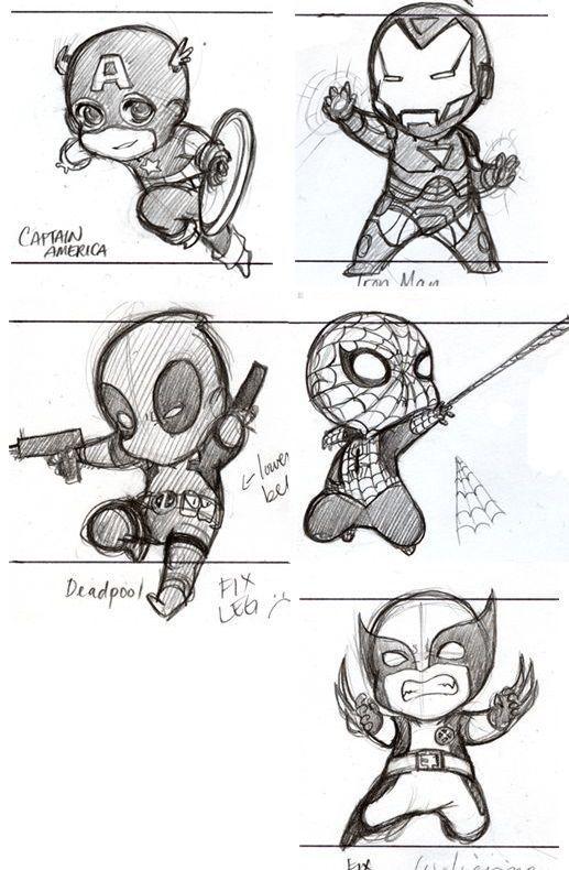 Chibi Heroes Chibi Heroes Avengers Drawings Drawing Cartoon Characters Comic Drawing