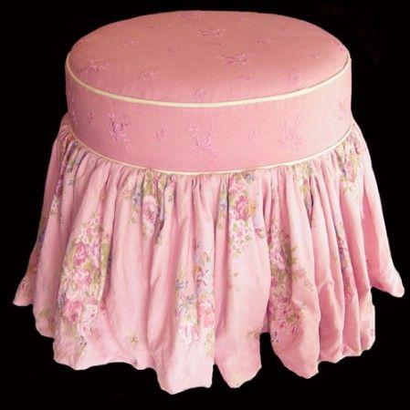 Boudoir tuffet stool made in the usa the taylor scott for Boudoir stoel