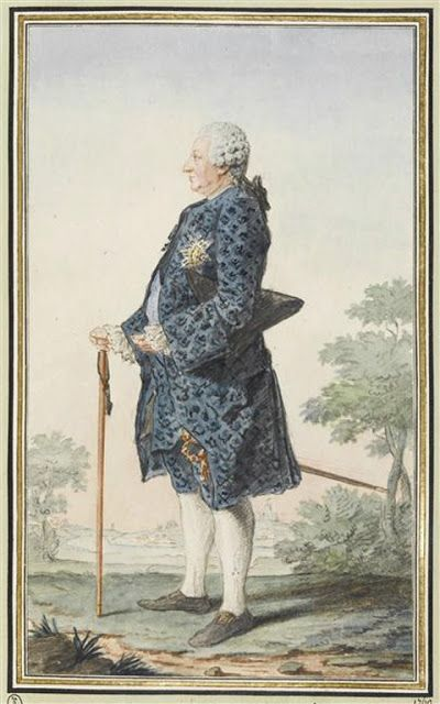 M de Gribeauval, 1760 by Louis Caroggis Carmontelle (1717-1806)