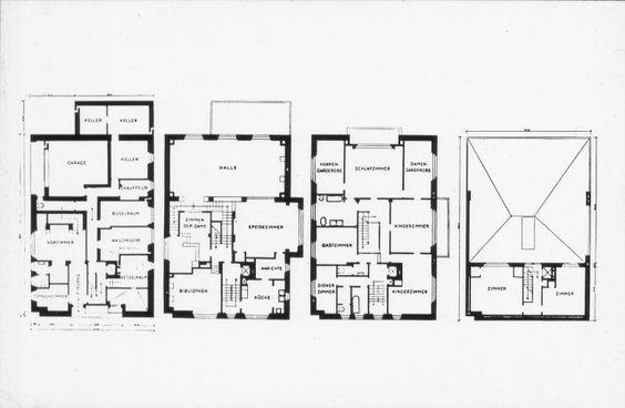 Plan of the Villa Müller Adolf Loos (1870-1933) Pinterest