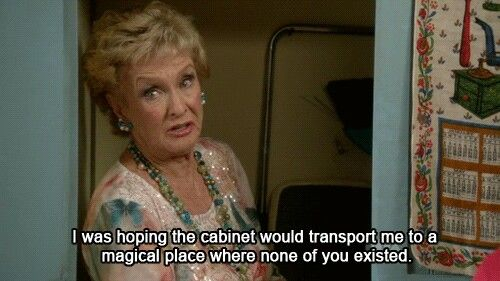 Raising Hope. Cloris Leachman. She and Betty White are so who I want to be as I *don't* grow up