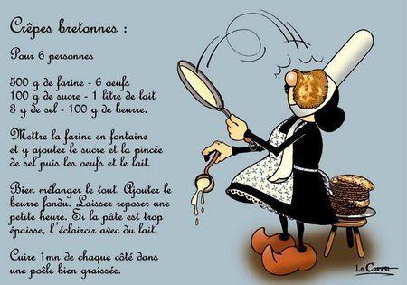 Crepes bretonnes+RECETTES tradionnelles sucrées ou salées sous forme de galettes