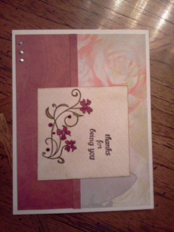 card made for OWH blog hop
