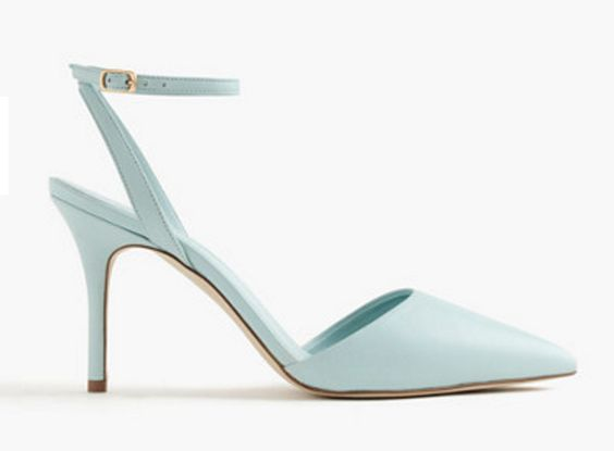 Mint Sling-Back With Ankle Strap