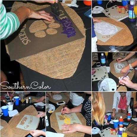 how to make a burlap football door hanger - Bing Images