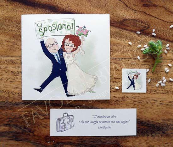Partecipazioni Matrimonio Spiritose Con Caricatura Degli Sposi Matrimonio Partecipazione Partecipazione Di Matrimonio