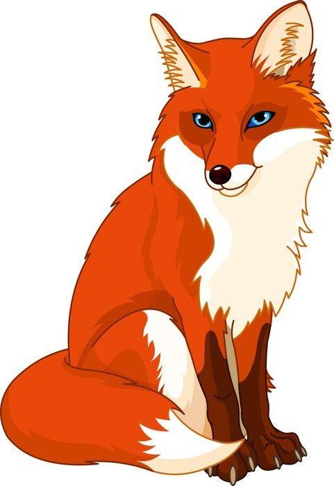 Cute Fox Wall Mural Pixers We Live To Change Fox Artwork Fox Painting Fox Illustration