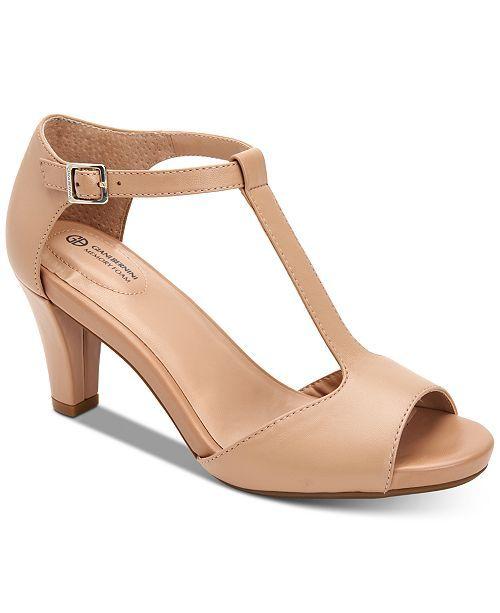 Giani Bernini Claraa Memory Foam Dress Sandals Created For Macy S Reviews Heels Pumps Shoes Macy S Dress Sandals Flip Flop Shoes Pumps Heels