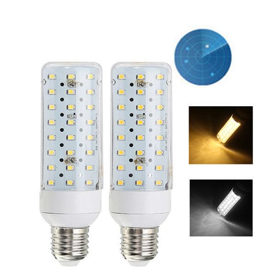 E27 5w Smd2835 24leds Warm White Pure White Radar Sensor Light Conrol Corn Light Bulb Ac90 265v Light Sensor Light Bulb Bulb