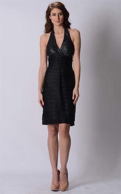 Little black halter neck dress