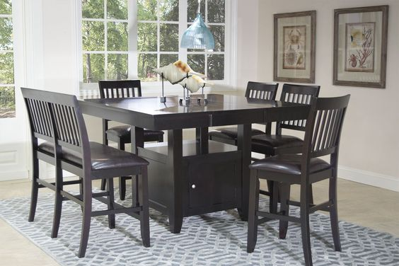 kaylee espresso counter table - dining tables - dining room | mor ...