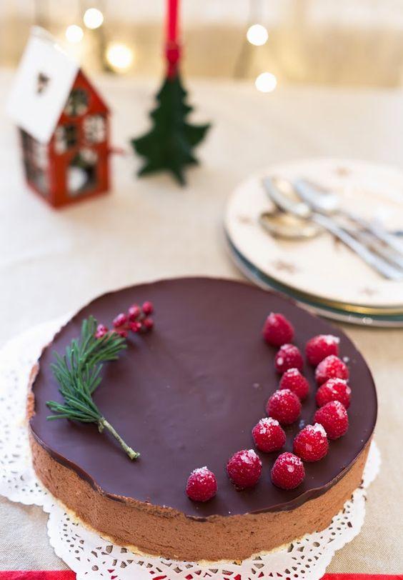 Semifrío de chocolate  www.entreharinas.com