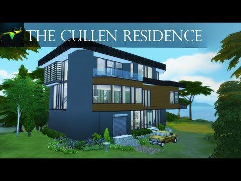 The Cullen Residence From Twilight The Hoke House The Sims 4 Speed Build Youtube Cullen House Twilight Twilight House Sims House