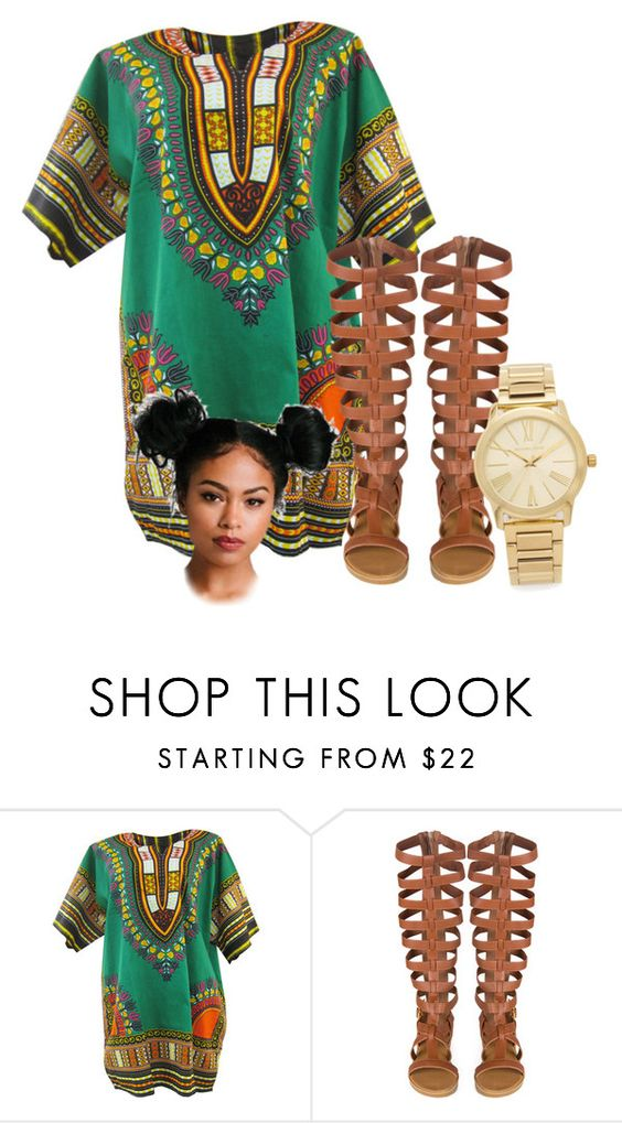 """{I like my negro nose with Jackson 5 nostrils✨✊}"" by wavy-chii ❤ liked on Polyvore featuring Michael Kors, women's clothing, women, female, woman, misses and juniors"