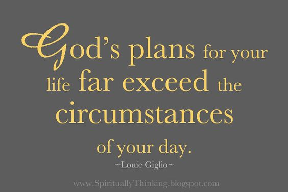 God's plans are always perfect!