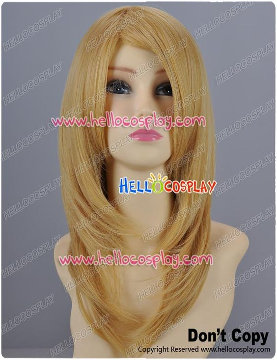 Butterscotch Blonde Gold Cosplay Wavy Wig