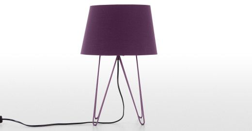 Collins Table Lamp, Aubergine | made.com