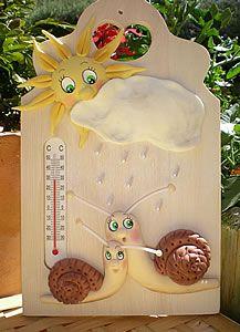 Fiche créative - Planchette thermomètre décor porcelaine froide