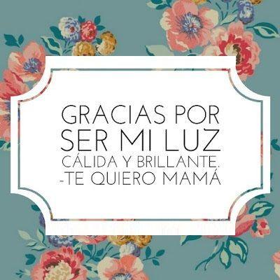 Mamá es un ser muy especial que merece los mejores pensamientos en su día. | día de las madres frases te quiero | frases para mamá de hija | pensamientos para mamá | #díadelamadre