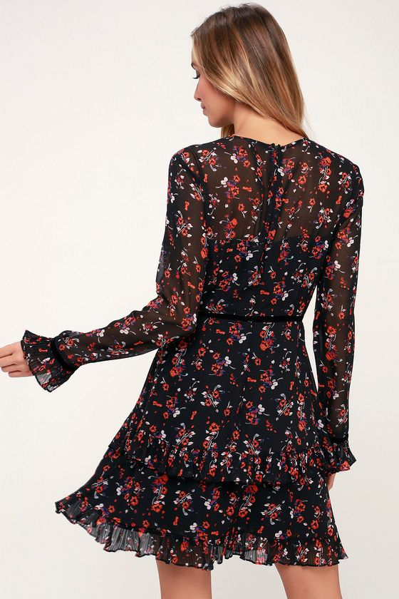 29+ Black floral long sleeve dress ideas in 2021