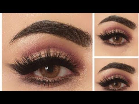 مكياج سهل ناعم عنابي كات كريس لتكبير العين رسم ايلاينر بشدو Youtube Eye Makeup Makeup Glam Makeup