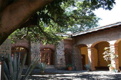Haciendas mexican hacienda and tequila on pinterest for Adobe hacienda house plans