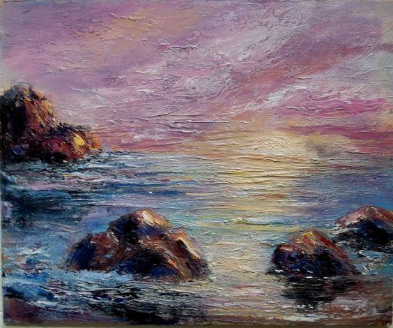 poetic Seascape Gail Grant American Impressionist fine art oil paintings ocean