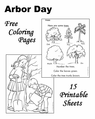 Arbor Day coloring pages Happy