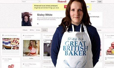 Global appeal: Sisely White, who runs homeware and bakeware site Sew White has recieved orders from Malaysia and Thailand since posting her products on Pinterest.