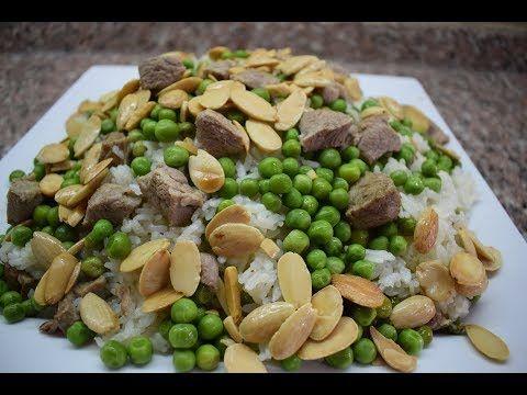 رز بالبازلاء على اصوله طريقة بضل فيها الرز مفلفل ولونه أبيض Youtube Cooking Food Vegetables
