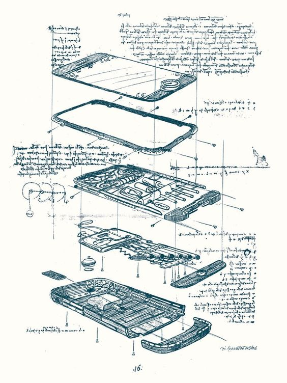 Da Vinci's iPhone drawings from the lost archives.