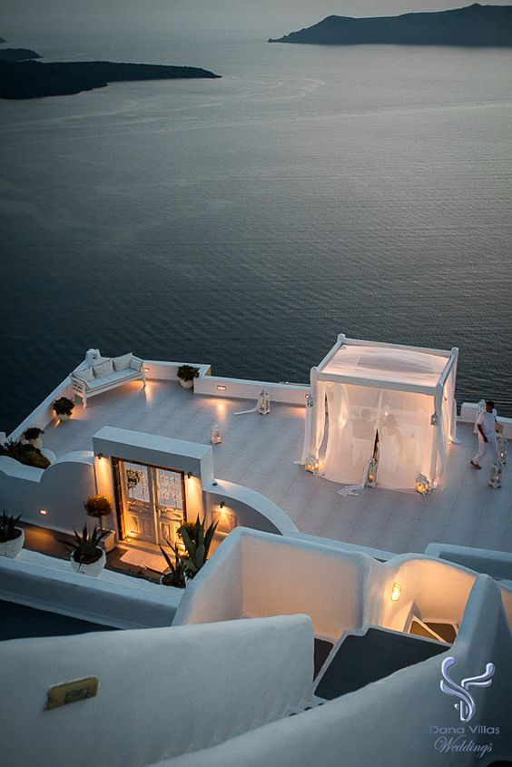 http://www.thebridalconsultants.com/  Dana Villas, Santorini via The Bridal Consultant   Private and personal
