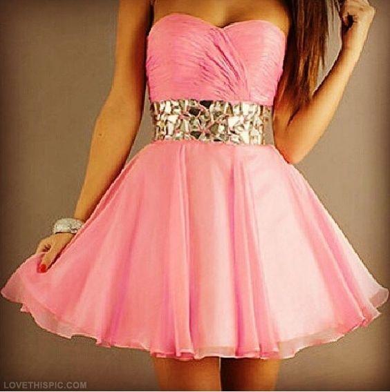 Cute Pink Dress fashion dress pink pretty girly  teen fashion ...