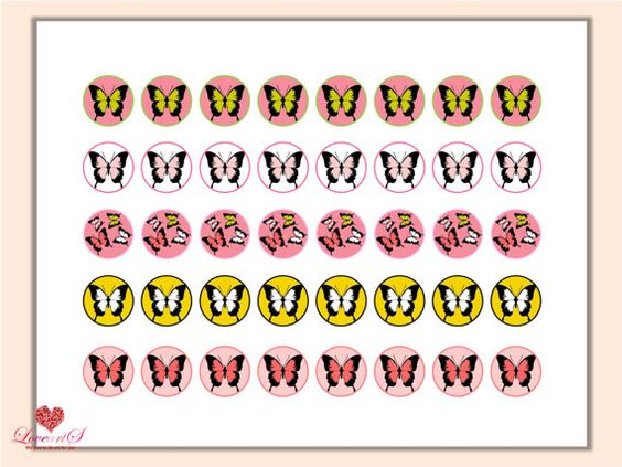 Butterfly Bottle Cups Instant Download Butterfly by LoveArtSyou