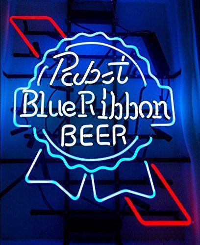 Super Bright! New Pabst Blue Ribbon Sign