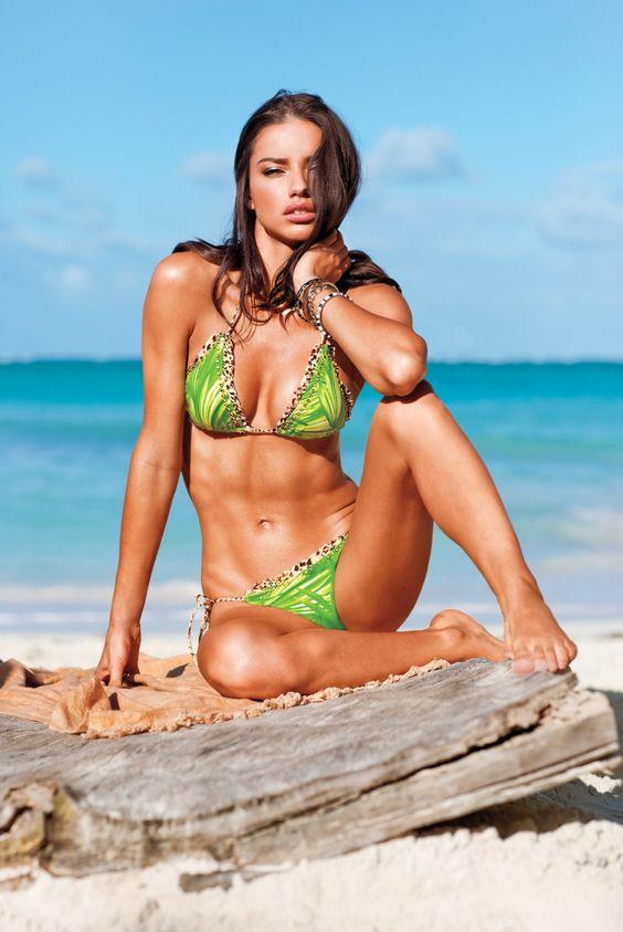 Adriana Lima. Beach. Bikini. Abs: