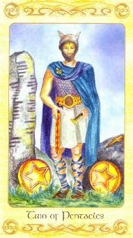 7-24-13 Wednesday's Tarot: 2 OF PENTACLES (Celtic Tarot) – Today may call upon you to establish some priorities. You may have things that compete for your attention, but realistically, you can only do one thing or the other if you want to do it well.