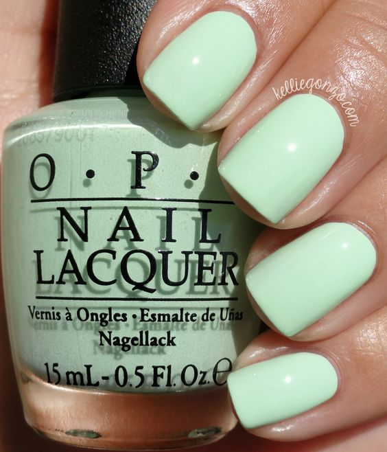 OPI 'That's Hula-rious',  Nails, Nail Polish, Peppermint Green, Green, O.P.I