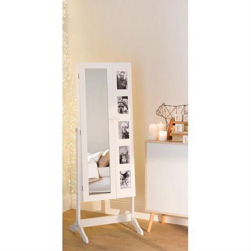 Miroir Psyche Avec Rangement Bijoux Et Cadres La Foir Fouille En 2020 Rangement Bijoux Boiseries Deco