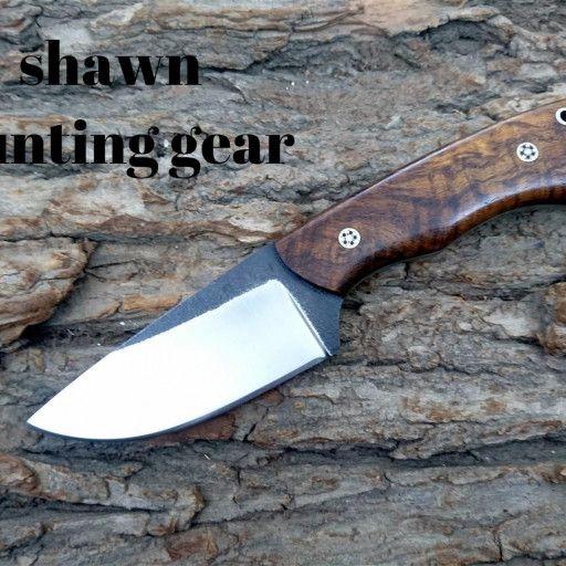 Handmade 1095 Steel Skinner Knife With Burl Wood Handle Burled Wood 1095 Steel Knife