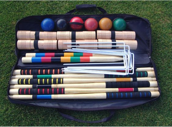 Amazon.com : Baden G201 Champions Series Croquet Set with Soft Grip Rubber Handles : Croquet Set For Adults : Sports & Outdoors