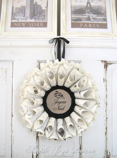 #Upcycled #Paper #Wreaths