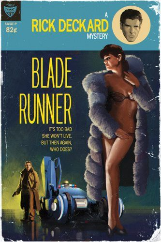 """Tim Anderson reimagines science fiction films as pulp novel covers. """"Sci-Fi Film Favorites Get Pulp Cover Make-Overs"""""""