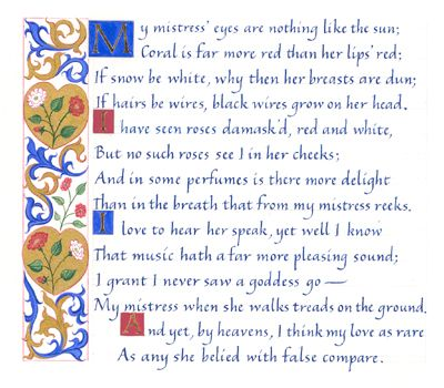 'Love Sonnet 130' by William Shakespeare