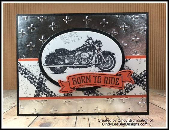 Stampin' Up! One Wild Ride with Foil.  (Pin#1: Transportation: Motorcycles...).
