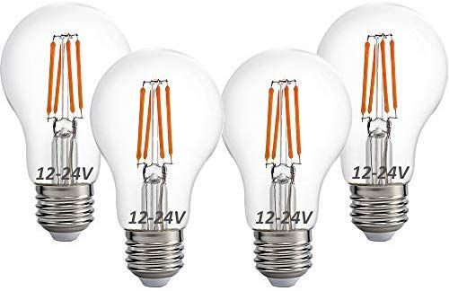 12 Volt 24 Volt 12v 24v Led Light Bulb Rv Camper Marine Light Bulb A19 Low Voltage 4w 470lm Edison Incandescent Bulb Led Light Bulb 12v Led Lights Light Bulb