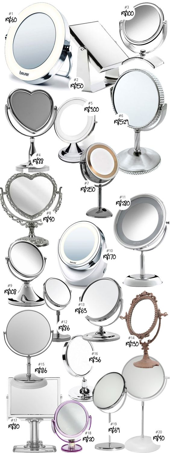 Coisas De Diva » 20 opções de espelhos de mesa para maquiagem!: